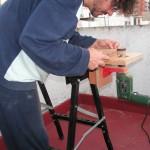Mesa de lijado de fabricación casera